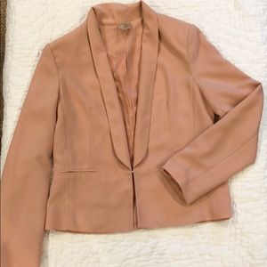 Other - Beautiful blush blazer with clasp front closure